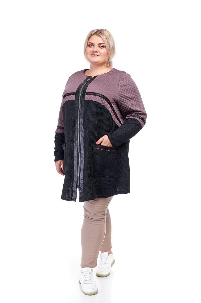 Кардиган женский большие размеры от 60 до 70