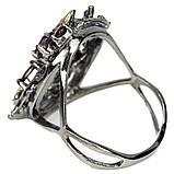 Серебряное кольцо с гранатом родолит, 1483КР, фото 3