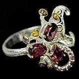 Серебряное кольцо с гранатом родолит, 1484КР, фото 3