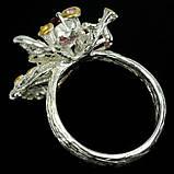 Серебряное кольцо с гранатом родолит, 1484КР, фото 4