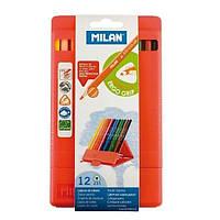 Олівці кольорові, 12 кольорів, пластикова коробка