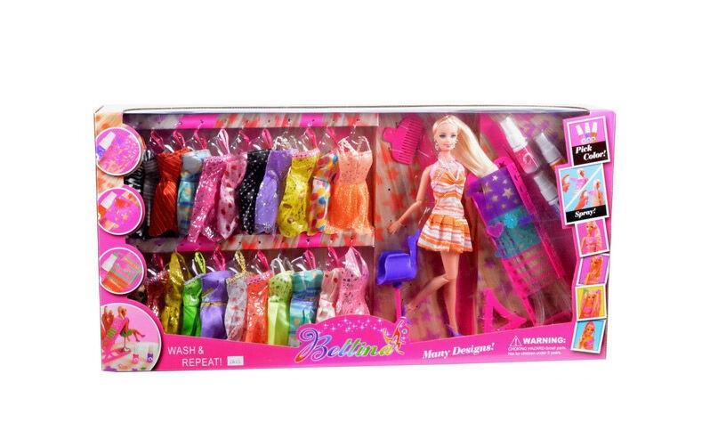 Кукла барби с нарядами, 24 платья
