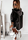 Демисезонная женская куртка с рукавами из трехнитки, с капюшоном и на молнии 10kr318, фото 6