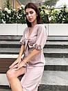 Летнее платье миди с завязкой на груди и рукавом - фонариком до локтя 63py1541, фото 3