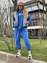 Женский костюм тройка со свитшотом и стеганным жилетом 18so1029, фото 4