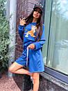 Женский летний костюм со свободными шортами и свитшотом с рисунком 5ks1067, фото 2