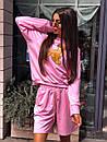Женский летний костюм со свободными шортами и свитшотом с рисунком 5ks1067, фото 3