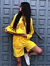 Женский летний костюм со свободными шортами и свитшотом с рисунком 5ks1067, фото 4