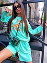Женский летний костюм со свободными шортами и свитшотом с рисунком 5ks1067, фото 6