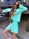 Женский летний костюм со свободными шортами и свитшотом с рисунком 5ks1067, фото 7