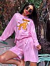 Женский летний костюм со свободными шортами и свитшотом с рисунком 5ks1067, фото 9