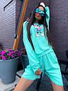 Женский костюм с шортами и свободным свитшотом с рисунком 5ks1068, фото 2
