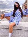 Женский костюм с шортами и свободным свитшотом с рисунком 5ks1068, фото 8