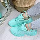 Мятные женские спортивный кроссовки на шнуровке OB4924, фото 3