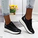 Женские кроссовки на белой подошве со шнуровкой OB7036, фото 4