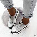 Женские кроссовки на белой подошве со шнуровкой OB7036, фото 5