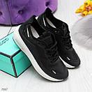 Женские кроссовки на белой подошве со шнуровкой OB7036, фото 6