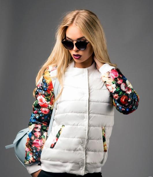 Стильная куртка с цветочным принтом S M L - Nice Price в Одессе