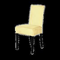 Чехол на стул чехол бархатный Турция Слоновая кость