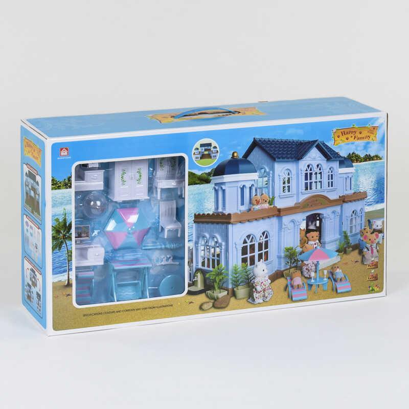 Дитячий ігровий двоповерховий будиночок з меблями