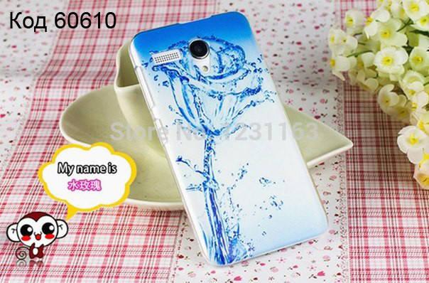 Чехол для lenovo a606 панель накладка с рисунком ледяная роза, фото 2