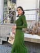 Вязаное платье с плиссированной юбкой миди и закрытым верхом 14ty1535, фото 2