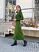 Вязаное платье с плиссированной юбкой миди и закрытым верхом 14ty1535, фото 4