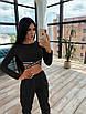Женский спортивный костюм с топом с перекрутом и штанами с накладными карманами 66rt1036E, фото 3