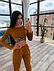 Женский спортивный костюм с топом с перекрутом и штанами с накладными карманами 66rt1036E, фото 6