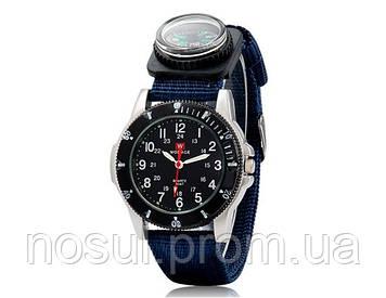 Спортивные часы с компасом WOMAGE тканевый ремешок