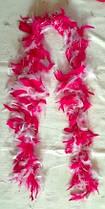 Боа бело-розовое 155 см