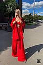 Женский костюм - тройка с брюками клеш, топом бюстье и свободной рубашкой 31kos1069, фото 4