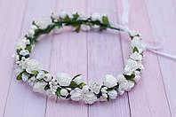 Белый веночек с цветами 271