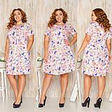 Платье летнее повседневное больших размеров из льна, разные цвета р.52,54,56,58 Код 136Й, фото 2