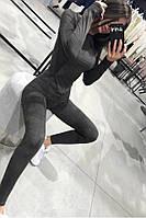 Облегающий женский замшевый костюм 27-227