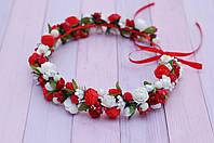 Веночек с цветами бело-красный  272