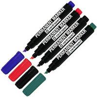 Маркер Centropen №8576 толстый 1-4,6мм клиновидный Цветной (Синий, Зеленый, Красный)  уп10