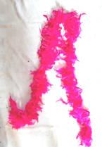 Боа из перьев ярко-розовое(фуксия) 180 см