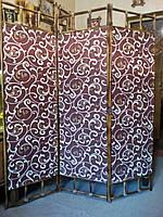 Ширма из бамбука 170х150см (вензеля) коричневая