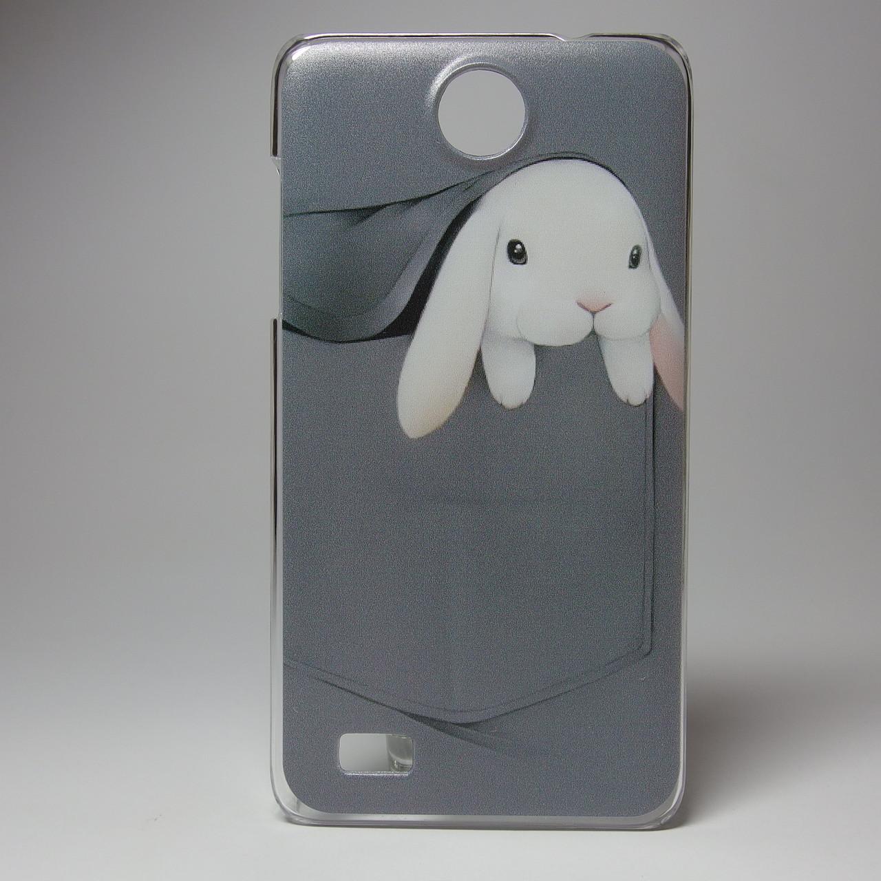 Чехол для lenovo a656 панель накладка с рисунком заяц