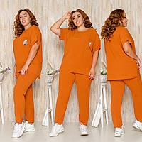 Летний брючный костюм женский большие размеры, разные цвета р.50,52,54,56 Код 164Х