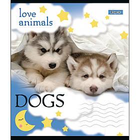 А5/18 лин. 1В LOVE ANIMALS, тетрадь учен.