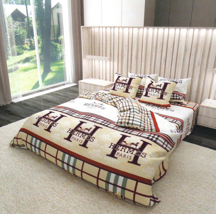 Комплект постельного белья  Бязь Gold размер полуторный комплект 150х215 см