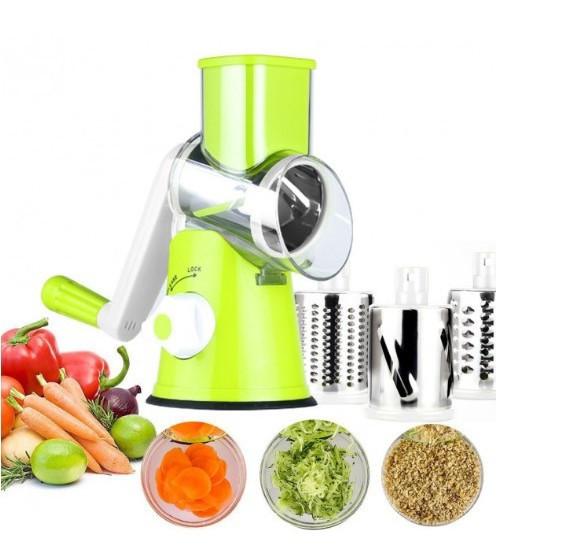 Овощерезка ручная мультислайсер (механическая терка для овощей и фруктов) TABLETOP Зеленый