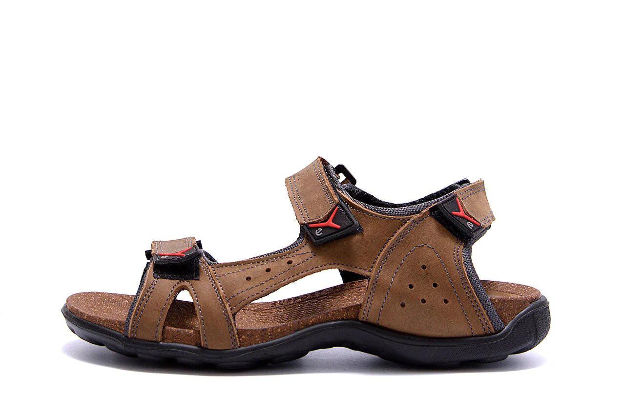 Мужские кожаные сандалии Flex Zone Tracking  Olive  р  44