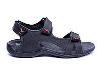 Чоловічі шкіряні сандалі Flex Zone Tracking Black р 43 44, фото 1