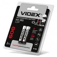 Аккумулятор Videx Ni-MH HR03/AAA 600mAh double blister (2 шт) (4205)