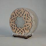Соляной светильник круглый Переплет сердец, фото 2