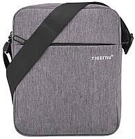 Мужская сумка (мессенджер) Tigernu Dark Grey городская, легкая из ткани