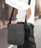 Мужская сумка мессенджер Tigernu  городская, легкая из ткани серая